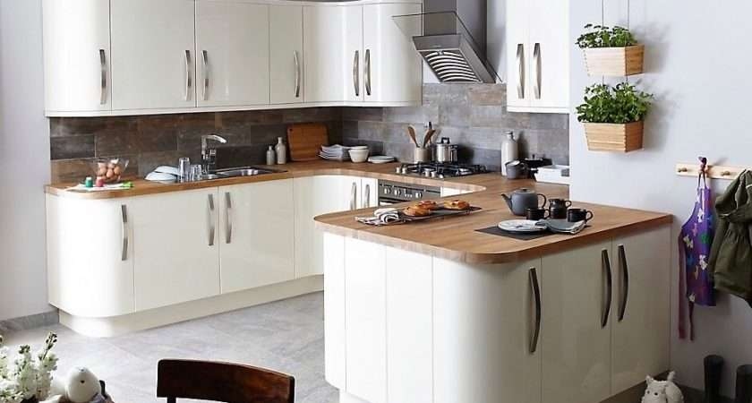 Cream Santini High Gloss Kitchen Cabinet Doors