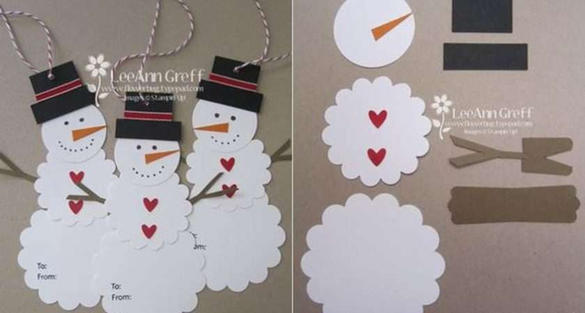 Creative Ideas Diy Cute Paper Snowman Gift Tag