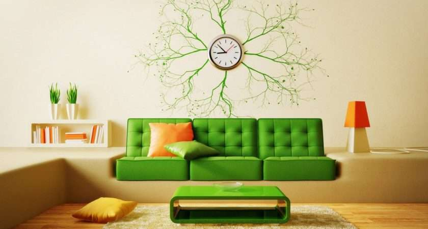 Creative Living Room Sofa Wall Clock House