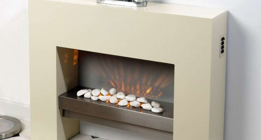 Creme Standing Electric Fire Mdf Surround Fireplace