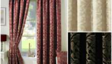 Crompton Pencil Pleat Lined Ready Made Curtains Jacquard