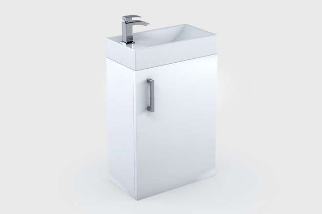 Cubitt White Freestanding Vanity Unit Sink Bathrooms