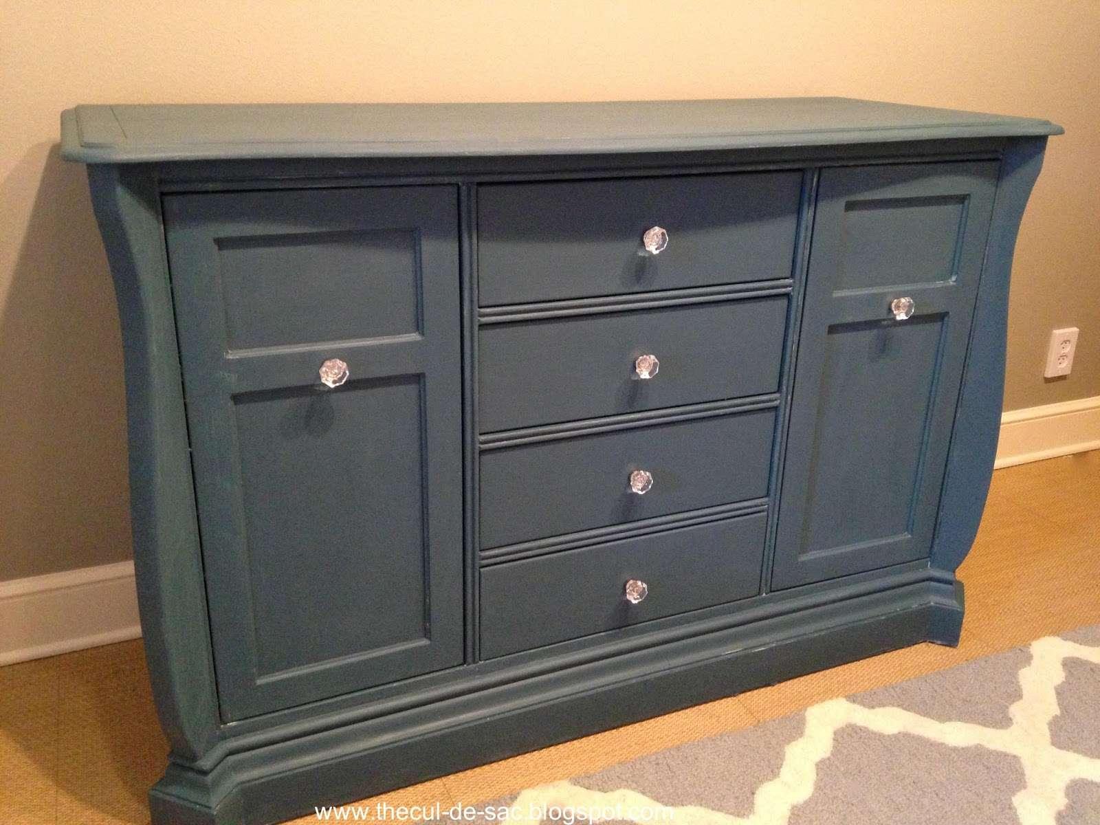 Cul Sac Chalk Paint Makeover Changing Table Office