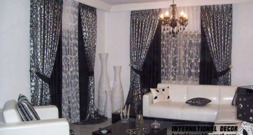Curtain Living Room Blue Design Style