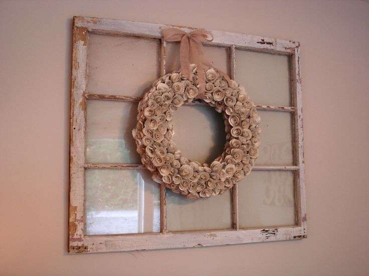 Curtain Rod Over Window Wreath Hanging Down
