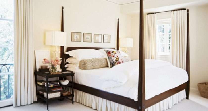 Curtain Wooden Bed Frame White Marble Floor Modern Cool Bedroom Ideas