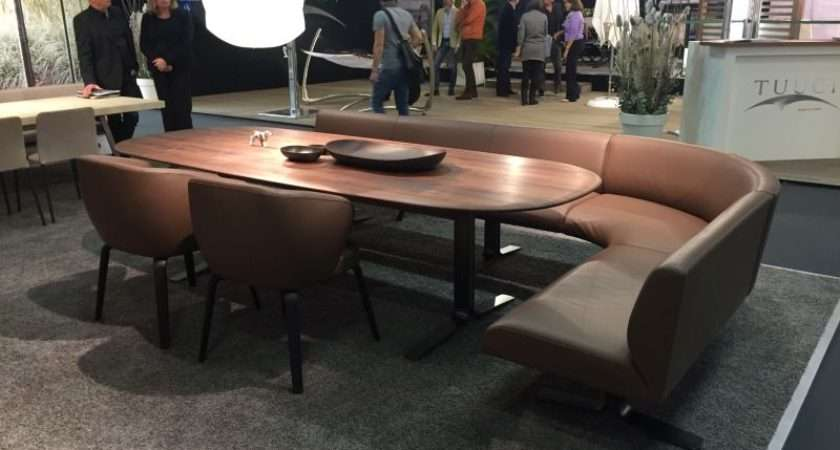 Curved Bench Around Dining Table Home Decorating Trends Homedit