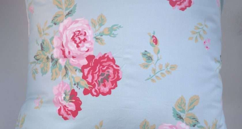 Cushion Cover Made Cath Kidston Antique Rose Blue