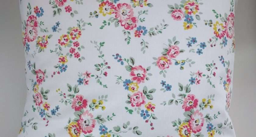 Cushion Cover Made Cath Kidston Bleached Flowers