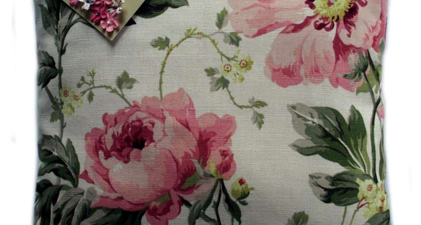 Cushion Cover Made Laura Ashley Cranberry Fabric