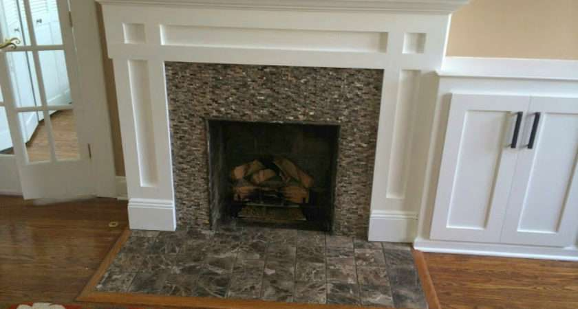 Custom Built Fireplace Mantel Cabinets Chatham Monk Home