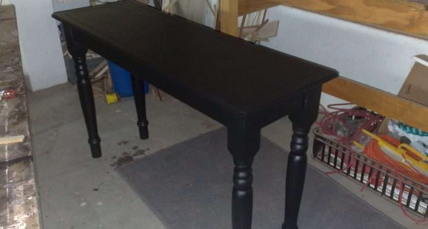 Custom Carpentry Dark Stained Entrance Hall Table