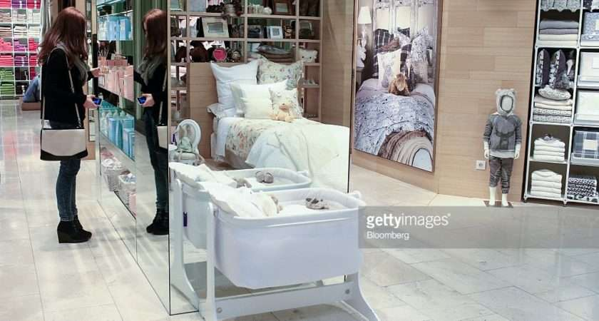 Customer Browses Zara Home Kids Section Inside Store