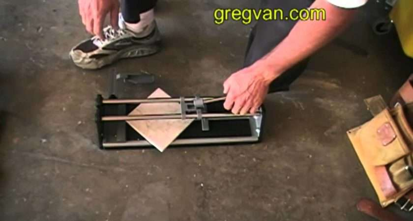 Cut Diagonal Ceramic Floor Tiles Youtube