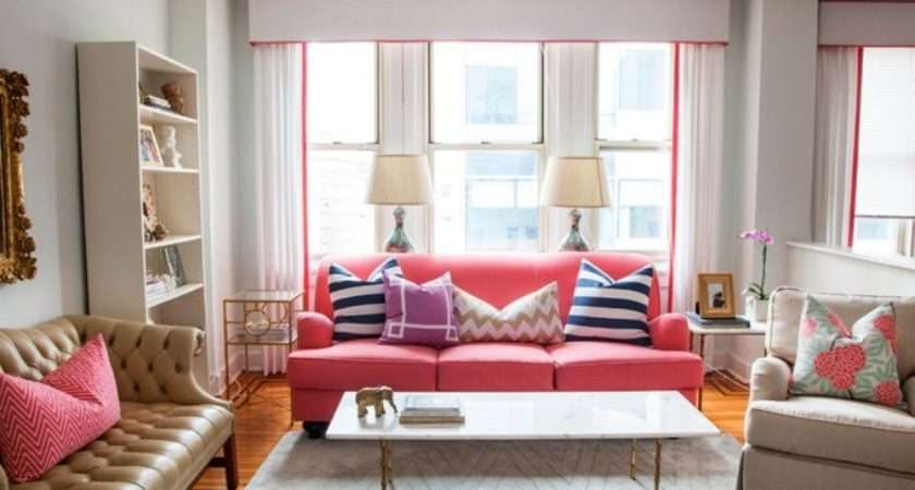 Cute Living Room Pink Couch Decor Inspiration Pinterest