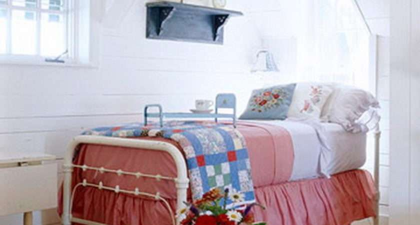 Cute Red White Blue Attic Bedroom Photos