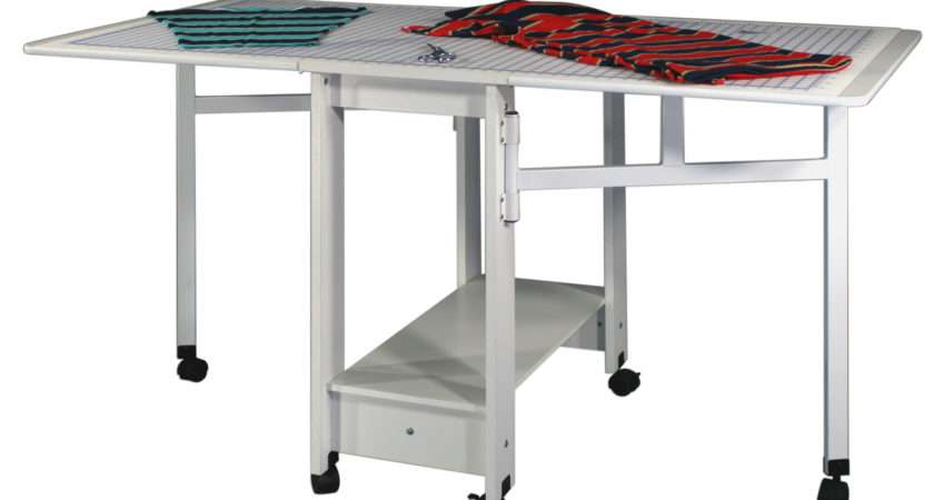 Cutting Craft Utility Table Compact Drop Leaf White Ebay