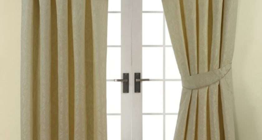 Damask Lined Pencil Pleat Curtains Cream