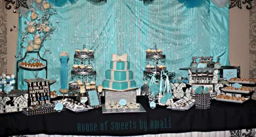 Damask Tiffany Blue Bridal Wedding Shower Party Ideas