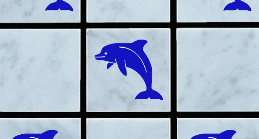 Decals Bathroom Tiles Dolphin Vinyl Wall Tile Stickers