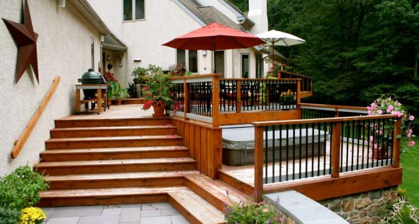Deck Country Landscaping Ideas Landscape Designs