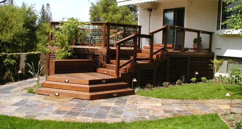 Deck Designs Ideas Backyards Front Yards