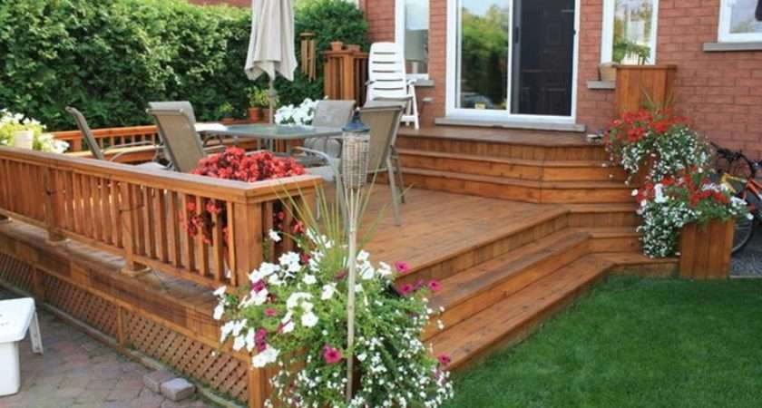 Deck Patio Ideas Small Backyards Large