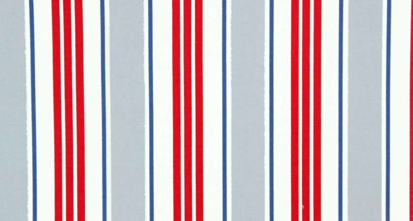 Deckchair Stripe Fabric Powder Blue Studio