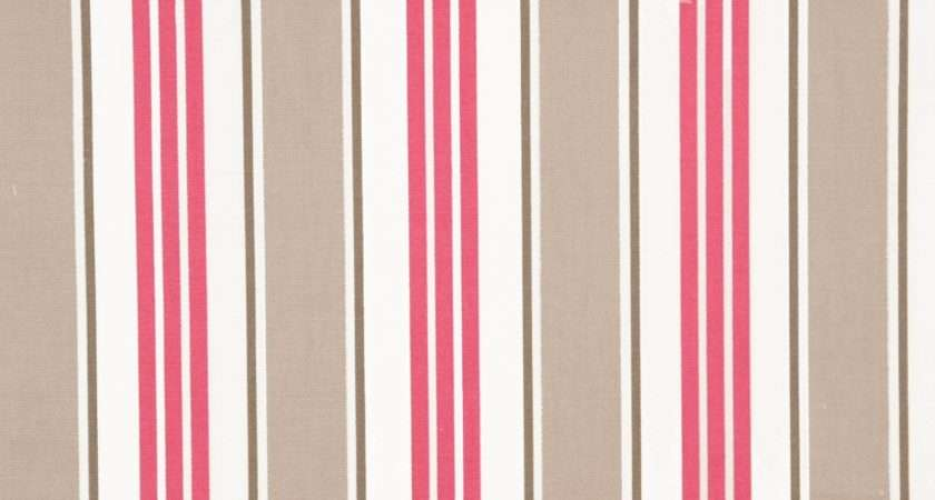 Deckchair Stripe Fabric Taupe Studio