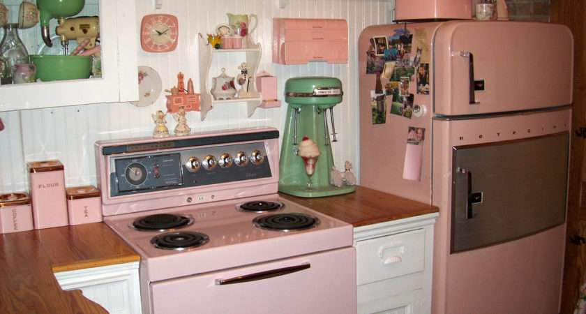 Decor Ideas Pink Kitchens House Vintage Kitchen Dream