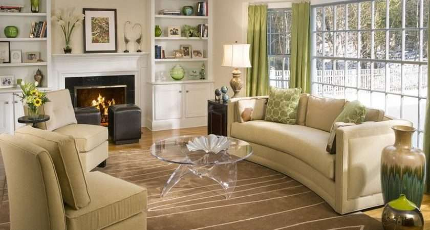 Decorate Living Room Brown Couch House