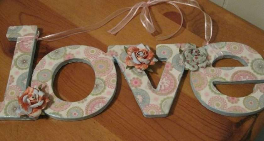Decorate Paper Mache Wood Wooden Letters Words