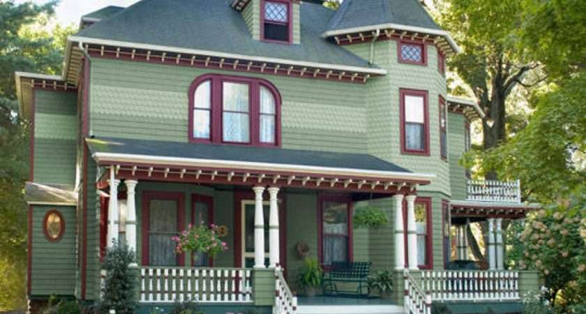 Decorating Brick Wall Victorian Exterior Paint Sample