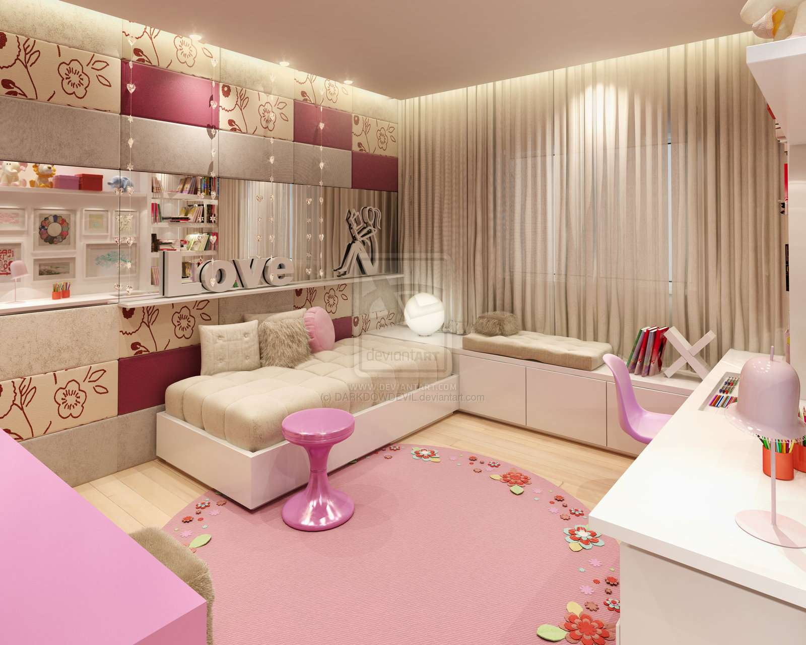 Decorating Girls Room Pink Brown Ideas Home