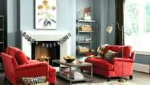 Decorating Red Couch Gray Living Room