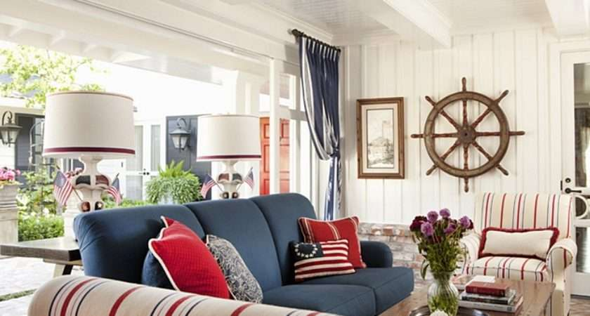 Decorating Red White Blue Town Country Living