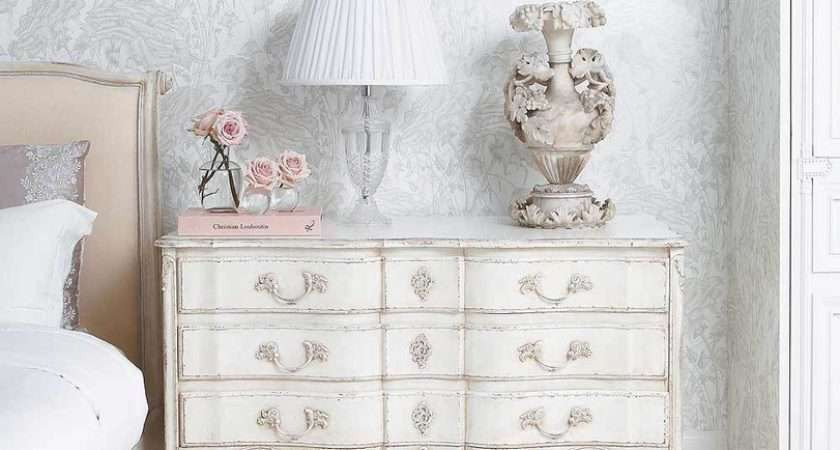 Delphine White Shabby Chic Chest Drawers French Style
