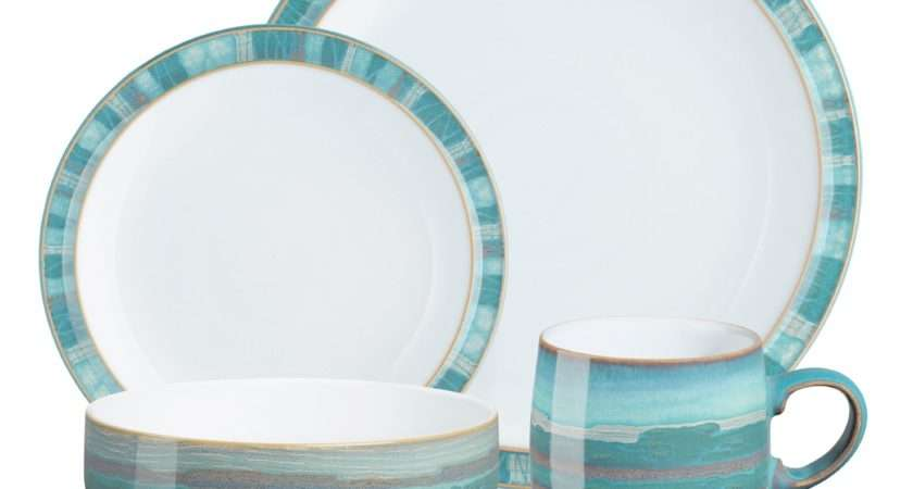 Denby Azure Coast Sixteen Piece Dinner Set Debenhams