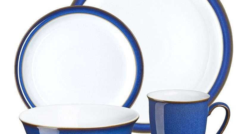 Denby Imperial Blue Piece Boxed Tableware Set Plates
