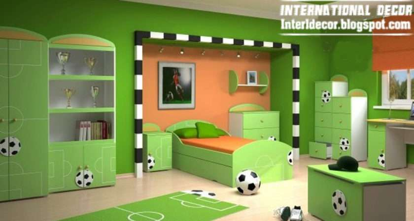 Design Cool Sports Kids Bedroom Themes Ideas Designs