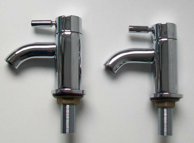 Designer Round Lever Chrome Basin Taps Plumbers Mate Ltd