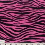 Details Black Brown Purple Pink Zebra Animal Print Fabric Bty
