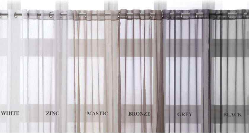 Details Eyelet Ring Top Voile Curtain Panel Extra Long