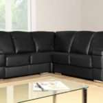 Details Plaza Black Leather Corner Sofa Group Settees