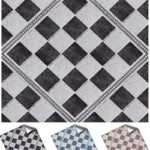 Diamond Chequered Mosaic Tile Transfers