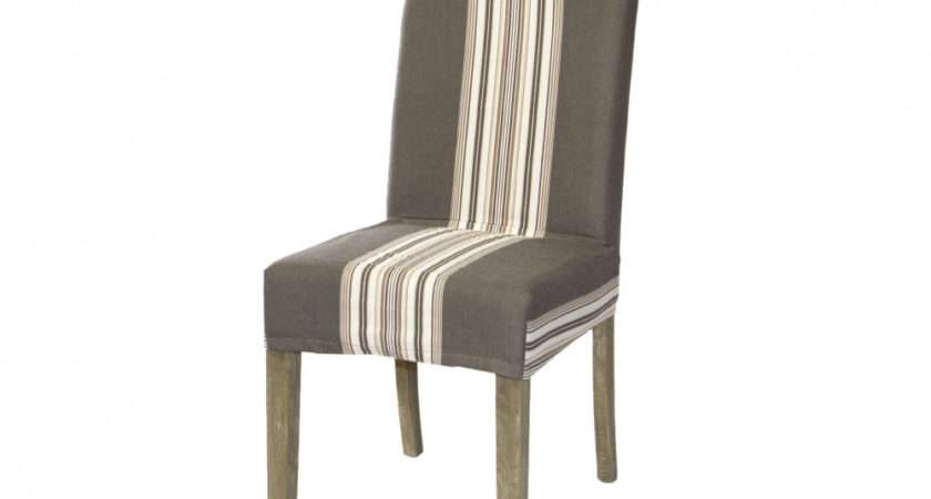 Dining Chair Cover Loose Striped Maison Living