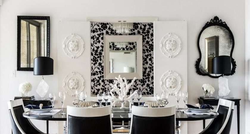 Dining Room Black White Ideas Buffet