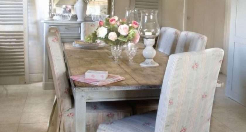 Dining Room Chair Slipcovers Shabby Chic
