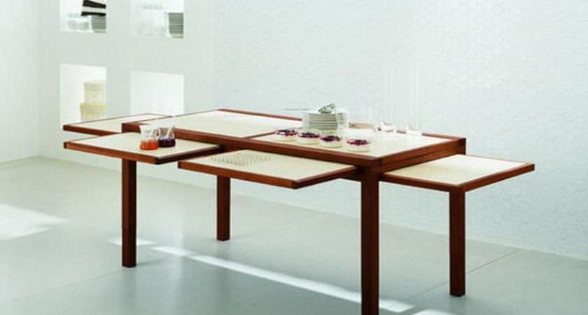 Dining Room Expandable Table Small Spaces Pad