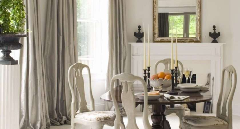 Dining Room Interior Attractive White Grey Hardwood Table